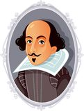 William Shakespeare Vetora Caricature ilustração royalty free