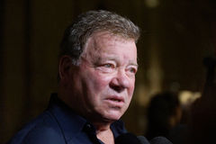 William Shatner. Actor William Shatner in town for the Montreal ComicCon Royalty Free Stock Photos