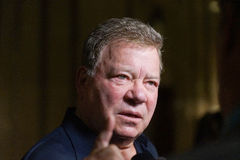 William Shatner. Actor William Shatner in town for the Montreal ComicCon Royalty Free Stock Images