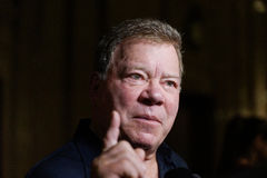 William Shatner. Actor William Shatner in town for the Montreal ComicCon Royalty Free Stock Image