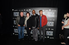 William Shatner en Kate Mulgrew en Avery Brooks en Scott Bak Stock Fotografie