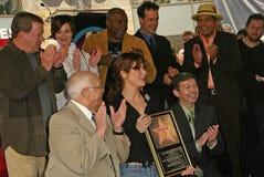 William Shatner, Ernie Hudson, Diedrich Bader, George Lopez, Johnny Grant, Sandra-Ochse, Leron Gubler Lizenzfreies Stockbild