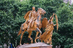 William Tecumseh Sherman Golden Statue Royalty Free Stock Images