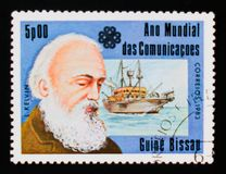 William Thomson, 1st Baron Kelvin, World Communications Year serie, circa 1983. MOSCOW, RUSSIA - AUGUST 29, 2017: A stamp printed in Guinea-Bissau shows William Stock Image