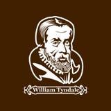 William Tyndale protestantisme Chefs de la réforme européenne illustration de vecteur