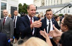 William- und Kate-Besuch in Polen lizenzfreies stockbild