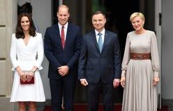 William- und Kate-Besuch in Polen lizenzfreie stockbilder