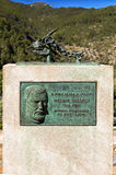 The William Waldren Memorial, Deia, Mallorca. The memorial was erected by the people of Deia in memory of the American archaeologist and painter William Waldren Stock Photos