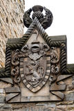 William Wallace coat of arms at The National Wallace Monument in Royalty Free Stock Image