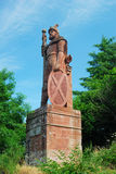 William Wallace monument above Dryburgh Abbey Royalty Free Stock Photography