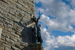 William Wallace. Statue on the Wallace Monument near Stirling in Scotland Royalty Free Stock Images