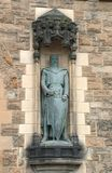 William Wallace Statue på Edinburgslotten Royaltyfri Bild