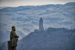 William Wallace torn i Stirling royaltyfri foto