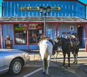Williams, Аризона, трасса 66, автостоянка лошади Стоковые Фото