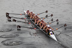 The Williams College Boat Club. BOSTON - OCTOBER 24: The Williams College Boat Club competes in the Head of the Charles Regatta  on October 24, 2010 in Boston Stock Photography