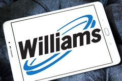Williams Companies logo. Logo of Williams Companies on samsung tablet . The Williams Companies, Inc. is an energy company, its core business is natural gas Royalty Free Stock Photos