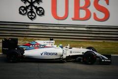 Williams Formula 1 på Monza som är drivande vid Felipe Massa Fotografering för Bildbyråer