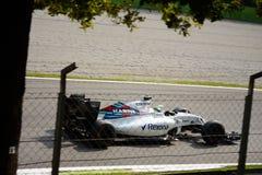 Williams Formula 1 på Monza som är drivande vid Felipe Massa Arkivfoto