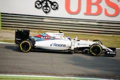 Williams Formula 1 på Monza som är drivande vid Valtteri Bottas Arkivfoton