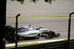 Williams Formula 1 på Monza som är drivande vid Valtteri Bottas Arkivbild