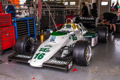 Williams FW08C F1 car. Historic racing car photographed during Brno Grand Prix Revival event on 5 July 2014 in Automotodrom Brno, Czech Republic Royalty Free Stock Photos