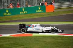 Williams FW37 F1 driven by Valtteri Bottas at Monza Stock Photo