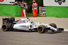 Williams FW37 F1 driven by Valtteri Bottas at Monza Stock Photography