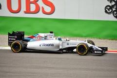Williams FW37 F1 som är drivande vid Felipe Massa på Monza Royaltyfri Fotografi