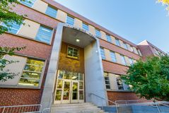 Williams Hall bij NC-de Universiteit van de Staat Royalty-vrije Stock Foto