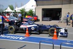 Williams-laufendes Auto in 2012 F1 kanadisches großartiges Prix lizenzfreie stockfotos