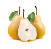 Williams pears group  on white Royalty Free Stock Photo