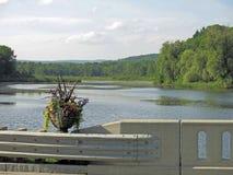Williams River W Stockbridge Berkshires mA Fotografia Stock
