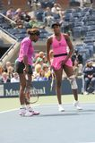 Williams sisters at US Open 2009 (1) Royalty Free Stock Image