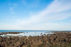 Williams stadstrand en av den berömda stranden i förort av Melbourne, Australien Royaltyfri Bild