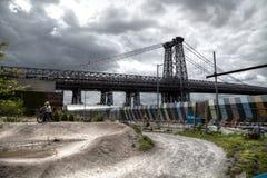 Williamsburg-Brücke Lizenzfreies Stockbild