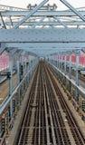 Williamsburg-Brücken-Untergrundbahn-Spuren Lizenzfreie Stockbilder