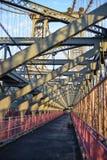 Williamsburg-Brücken-Gehweg Lizenzfreie Stockfotos