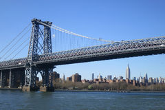 Williamsburg Bridge in New York City Royalty Free Stock Photo