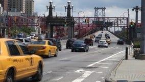 Williamsburg Bridge in New York City stock footage
