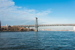 The williamsburg bridge in new york Stock Images