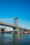 The williamsburg bridge in new york Royalty Free Stock Images