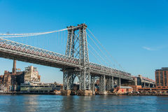 Williamsburg bridge in New York Royalty Free Stock Images