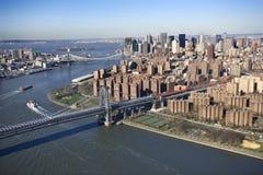 Williamsburg Bridge, NYC royalty free stock photos
