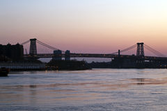 Williamsburg bridge at sunrise Royalty Free Stock Photography