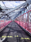 Williamsburg Bridge Walkway Royalty Free Stock Images
