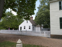 Williamsburg colonial histórico onde os colonos europeus os mais adiantados estabeleceram sua primeira colônia em Virgínia EUA fotos de stock royalty free