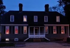 Williamsburg Colonial House Royalty Free Stock Photo
