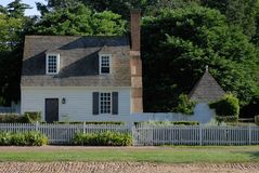 Williamsburg Colonial House Royalty Free Stock Photography