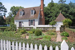 Williamsburg colonial house Stock Images