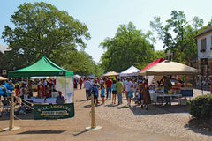 The Williamsburg Farmers Market in Merchants Square Stock Image